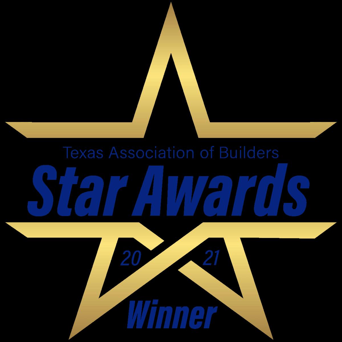 Texas Association of Builders Star Awards 2021 Winner